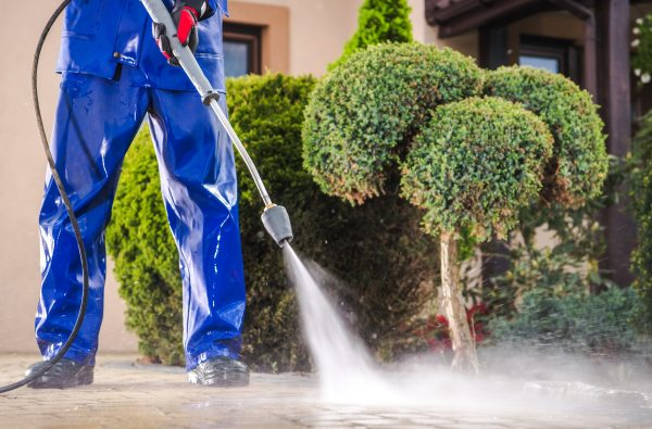 Cleaning Residential Driveway